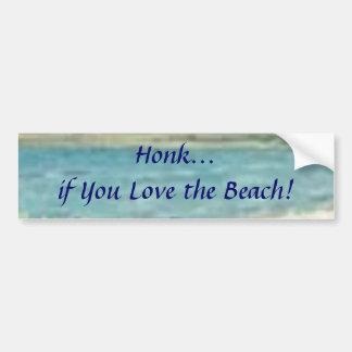 Honk if You Love the Beach! Bumper Sticker