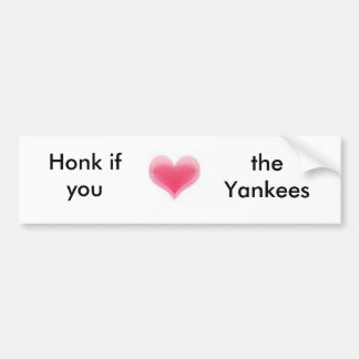 Honk if you love the Yankees bumper sticker