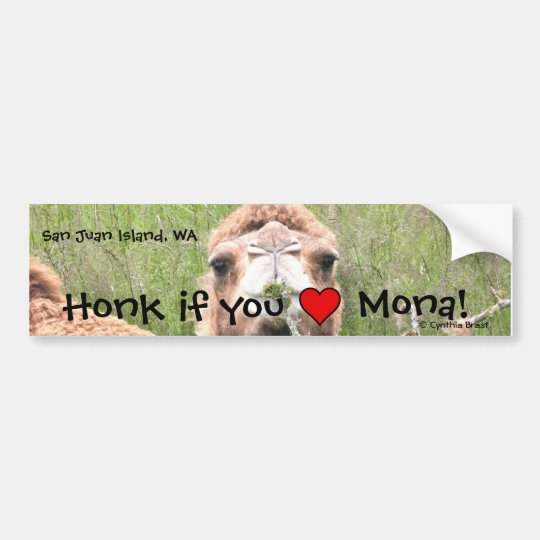 Honk if you ♥ Mona! Bumper Sticker