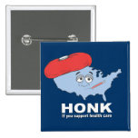 Honk if you support health care button