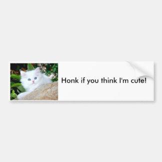 Honk if you think I'm cute! Car Bumper Sticker