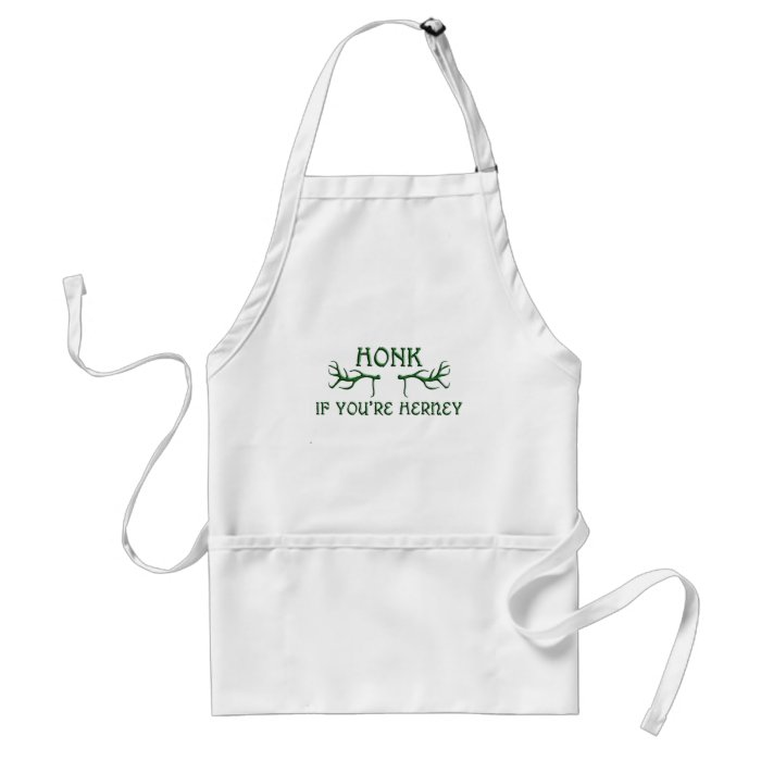 honk if youre herney green adult apron