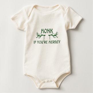honk if youre herney green baby bodysuits