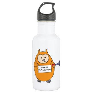Honk if You're Hootie Owl Stainless Steel Water Bottle