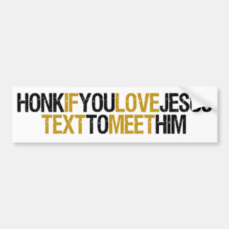 Honk Text Jesus Car Bumper Sticker