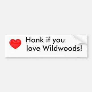 Honk yew you coils Wildwoods car' S sticker
