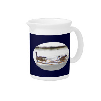Honkers - Canada Geese Drink Pitcher