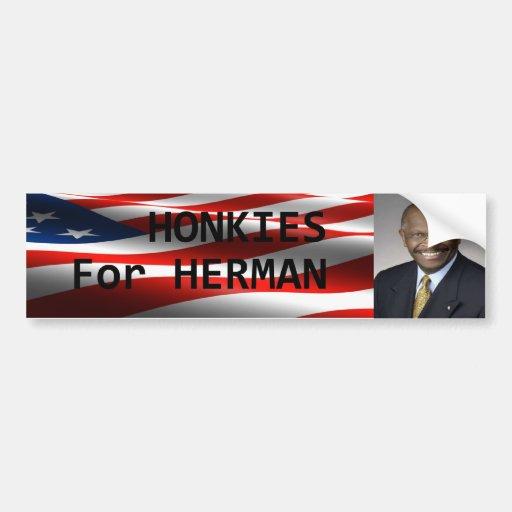 Honkies for Herman Bumper Sticker Car Bumper Sticker