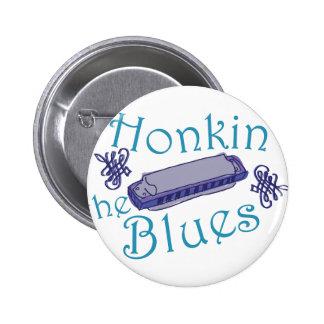 Honkin los azules pin redondo de 2 pulgadas
