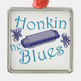 Honkin The Blues Metal Ornament