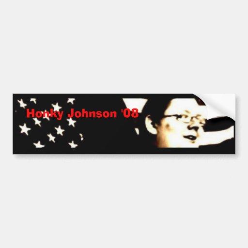 Honky Johnson '08 Etiqueta De Parachoque