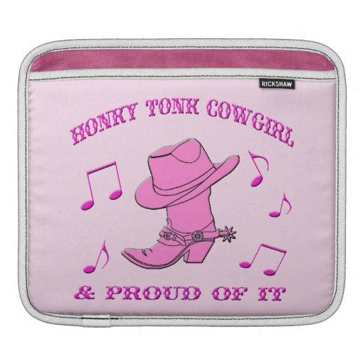 """""""Honky Tonk Cowgirl"""" Western IPad Sleeve"""