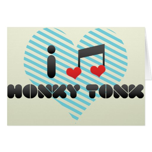 Honky Tonk fan Greeting Card