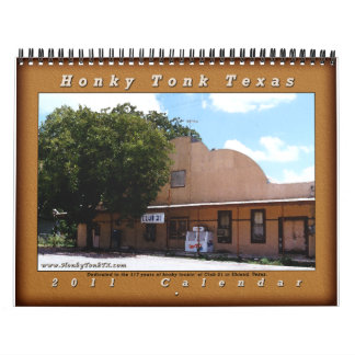 Honky Tonk Texas Dance Hall Calendar
