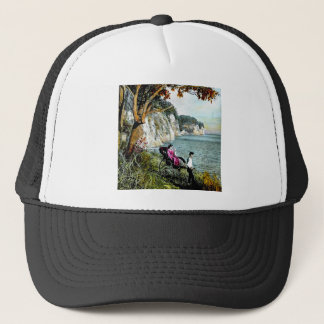 Honmoku Cliffs of Mississippi Bay Old Japan Geisha Trucker Hat
