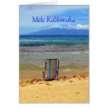Honokowai Beach Park, Mele Kalikimaka Greeting Card