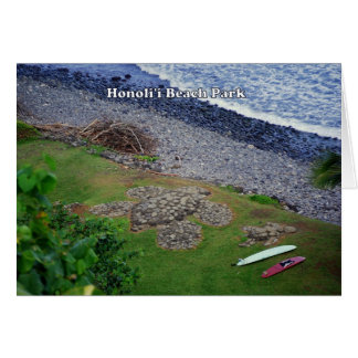 Honoli'i Beach Park, Hawaii, Card