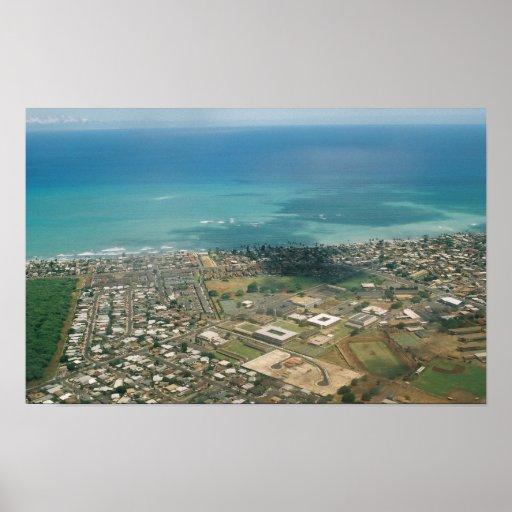 Honolulu Aerial Poster