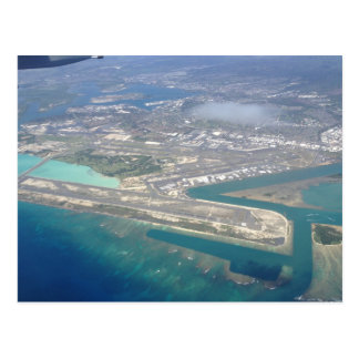 Honolulu Airport from sky Postcard