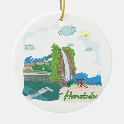 Honolulu Christmas Ornaments