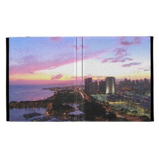 Honolulu cityscape Hawaii sunset iPad Case