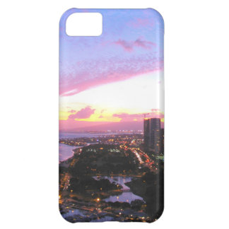 Honolulu cityscape Hawaii sunset Cover For iPhone 5C