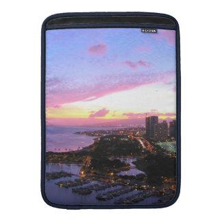 Honolulu cityscape Hawaii sunset MacBook Air Sleeves