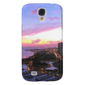 Honolulu cityscape Hawaii sunset Samsung S4 Case