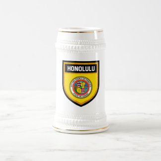 Honolulu Flag Beer Stein