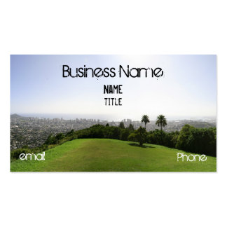 Honolulu green Double-Sided standard business cards (Pack of 100)
