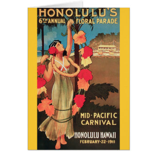 Honolulu, Hawaii 6th Annual Floral Parade 1911 Card