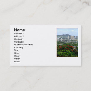 Honolulu business cards templates zazzle honolulu hawaii business card reheart Images