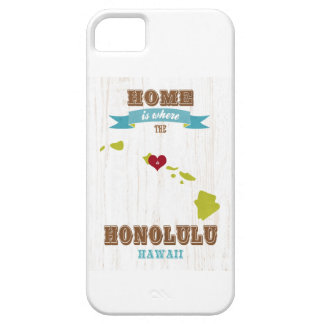 Honolulu, Hawaii Map – Home Is Where The Heart Is iPhone 5 Case