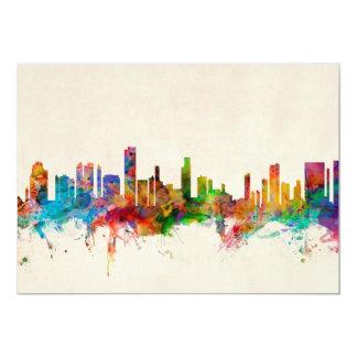 Honolulu Hawaii Skyline Cityscape Card