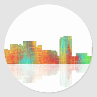 Honolulu Hawaii Skyline Classic Round Sticker