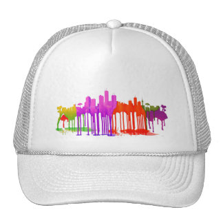 HONOLULU, HAWAII SKYLINE PUDDLES - TRUCKER HAT