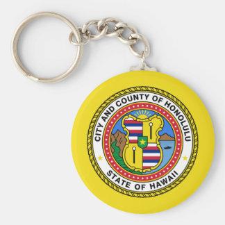 Honolulu, Hawaii, United States Basic Round Button Keychain