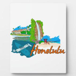Honolulu - Hawaii - United States of America.png Display Plaques
