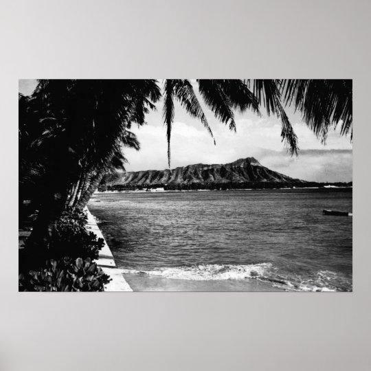 Honolulu, Hawaii - View of Diamond Head Poster