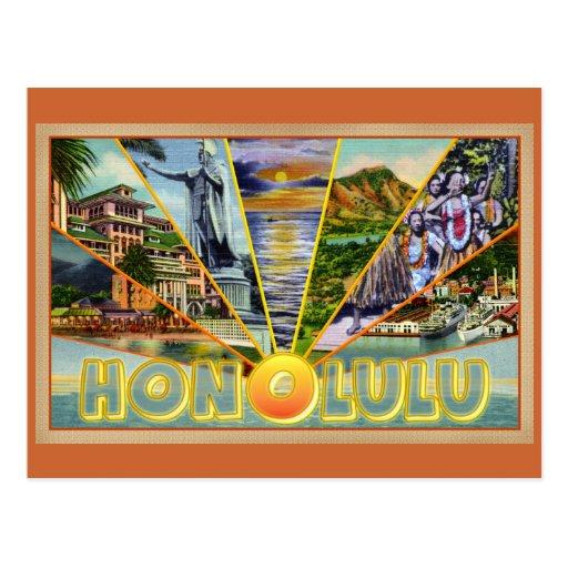 Honolulu Hawaii vintage postcard