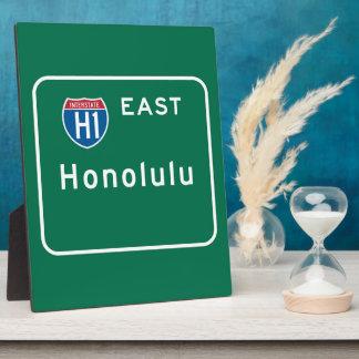 Honolulu, HI Road Sign Photo Plaque