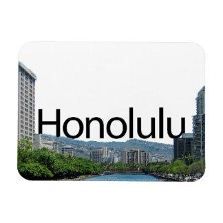 Honolulu HI Skyline with Honolulu in the Sky Magnet