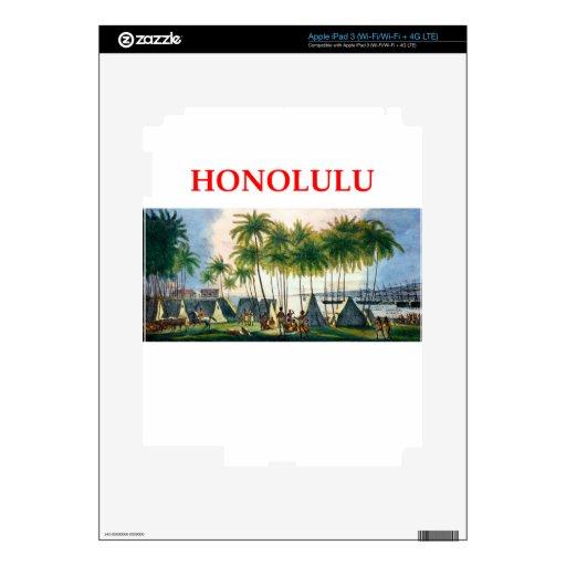 Honolulu iPad 3 Pegatinas Skins