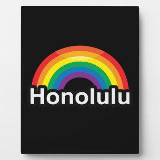 HONOLULU LGBT PRIDE RAINBOW PHOTO PLAQUE