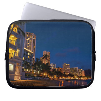 Honolulu, Oahu, Hawaii. Night exposure of Laptop Sleeve