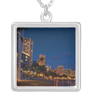 Honolulu, Oahu, Hawaii. Night exposure of Silver Plated Necklace
