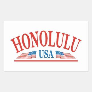 Honolulu Rectangular Sticker