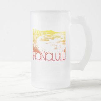 Honolulu Skyline Design Coffee Mug