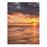 Honolulu Sunset Postcard