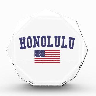 Honolulu US Flag Acrylic Award